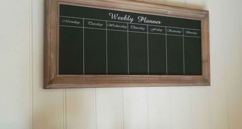 Large Shabby Chic Weekly Planner Chalk Board Message