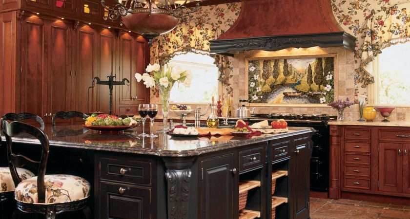 Large Traditional Eat Kitchen Island Square
