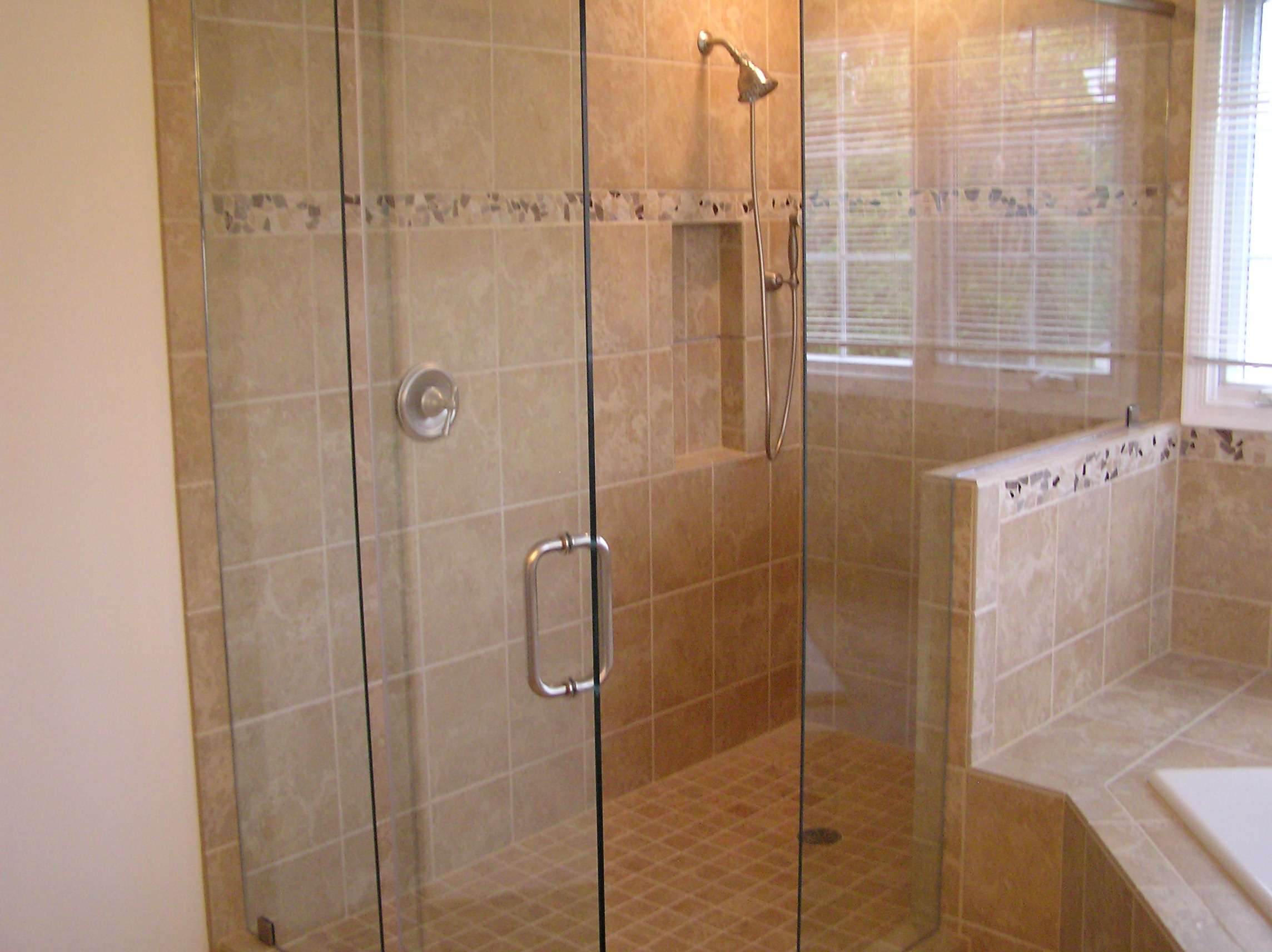 Larger Shower Built Niche