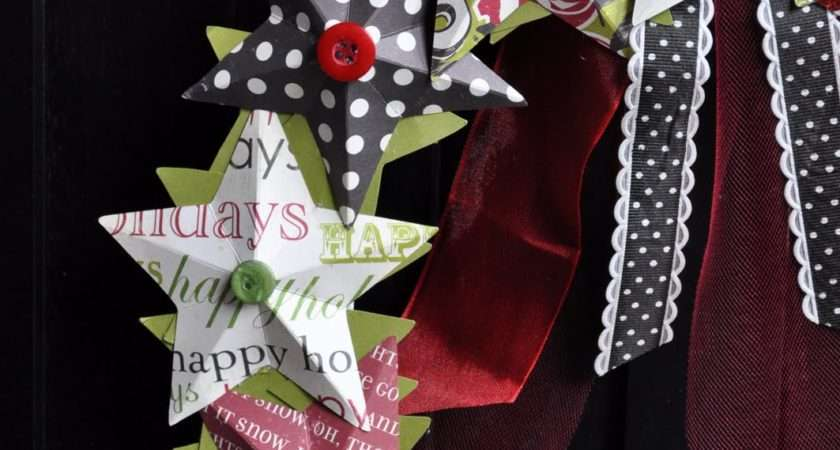 Last Minute Christmas Decorations Paper Star Wreath