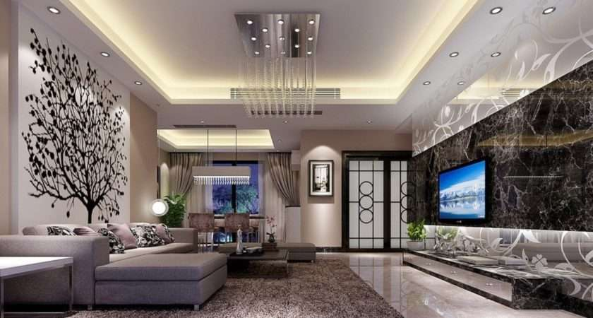 Latest Ceiling Designs Living Room Rendering House