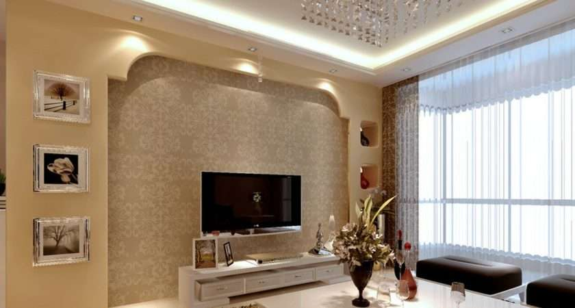 Latest Wall Design Living Room Ceiling Designs