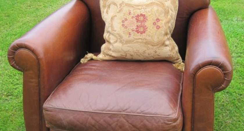 Laura Ashley Low Backed Leather Chair