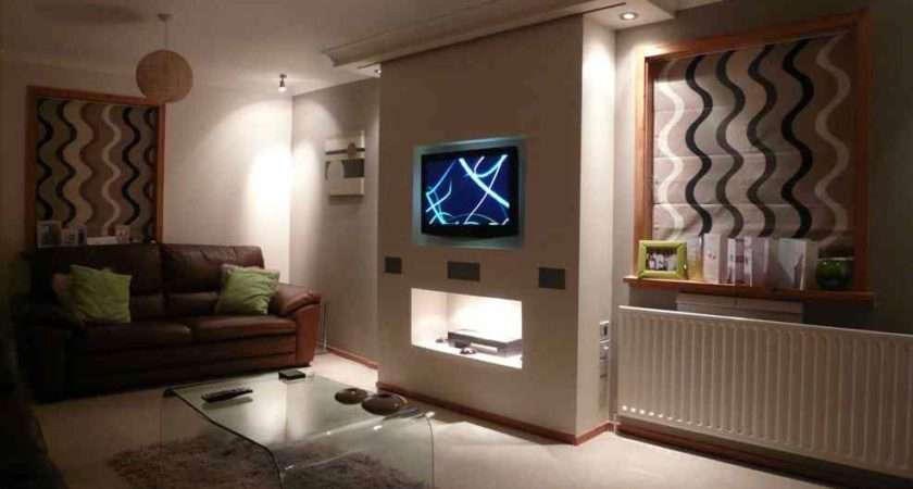 Lcd Installed Into False Chimney Breast Incorporating Electric