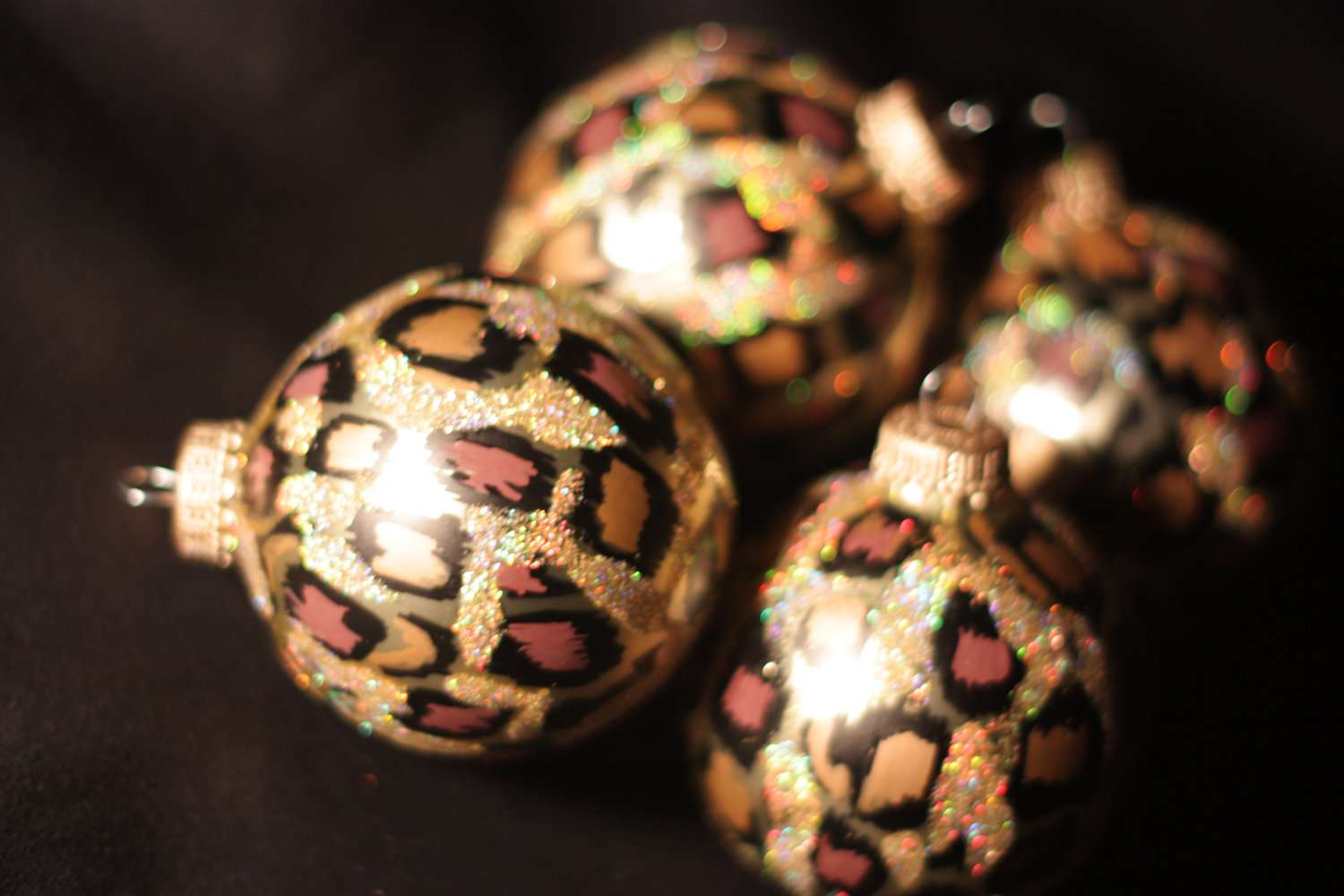 Leopard Print Christmas Ornaments Benstyle Etsy