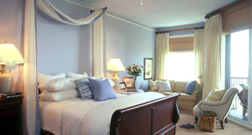 Light Blue Accent Wall Bedroom Hung