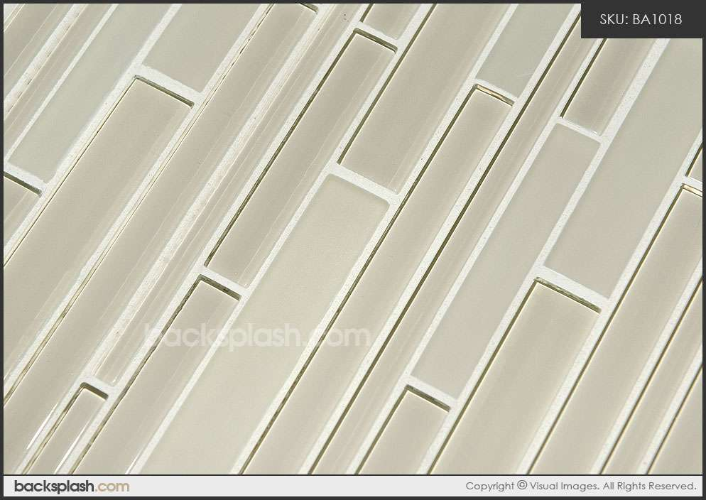 Light Brown Color Glass Brick Mosaic Tile