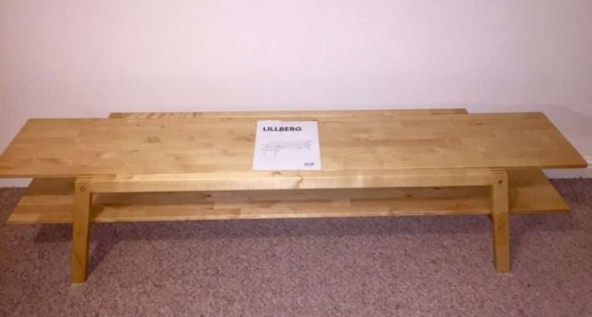 Lillberg Ikea Wooden Bench Stand Coffee Table Ipswich Suffolk