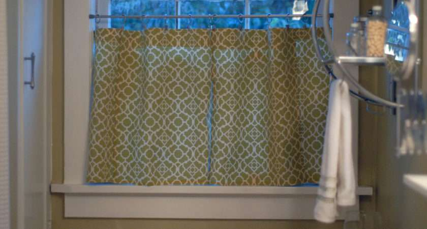 Little Cafe Curtains Our Bathroom Goodbye Plastic Blinds