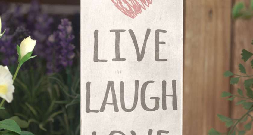 Live Laugh Love Cute Home Decor Sign Handmade Rustic