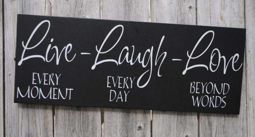 Live Laugh Love Wood Sign Home Decor