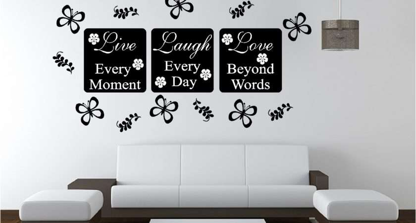 Live Love Wall Art Sticker Quote Bedroom Lounge Kitchen Ebay