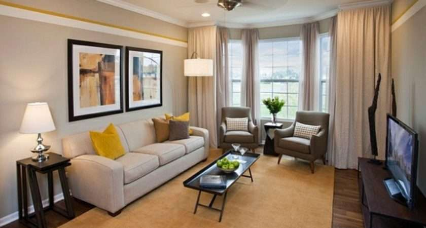 Living Room Color Scheme Gray Yellow Interior