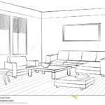 Living Room Design Interior Sketch Furniture Conc