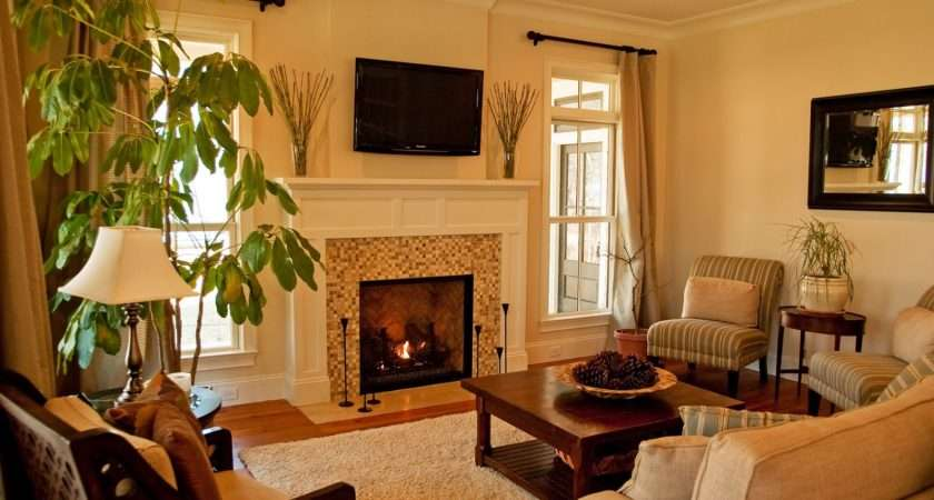 Living Room Gas Fireplace Added
