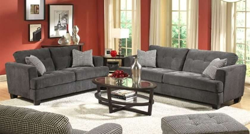 Living Room Modern Home Gray Also Small