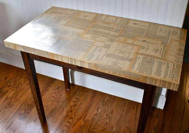 Living Room Pinterest Decoupage Table Book Pages