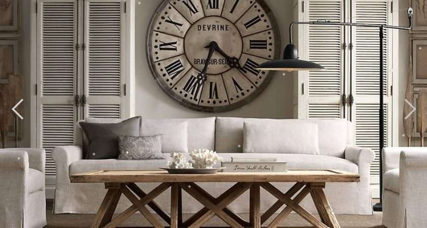 Living Rooms Restoration Hardware Coffee Table Clock Livingroom
