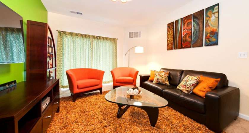 Livingroom Green Orange Color Idea Home Combo