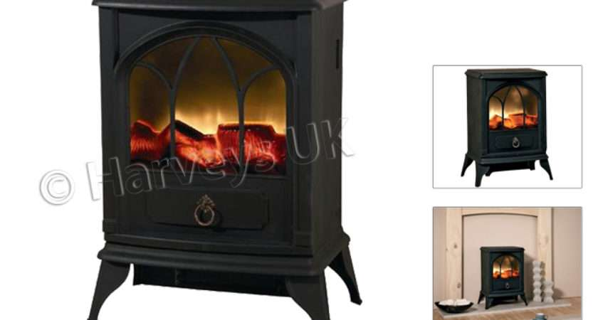Log Burning Flame Effect Stove Heater Electric Fire Fireplace Fan
