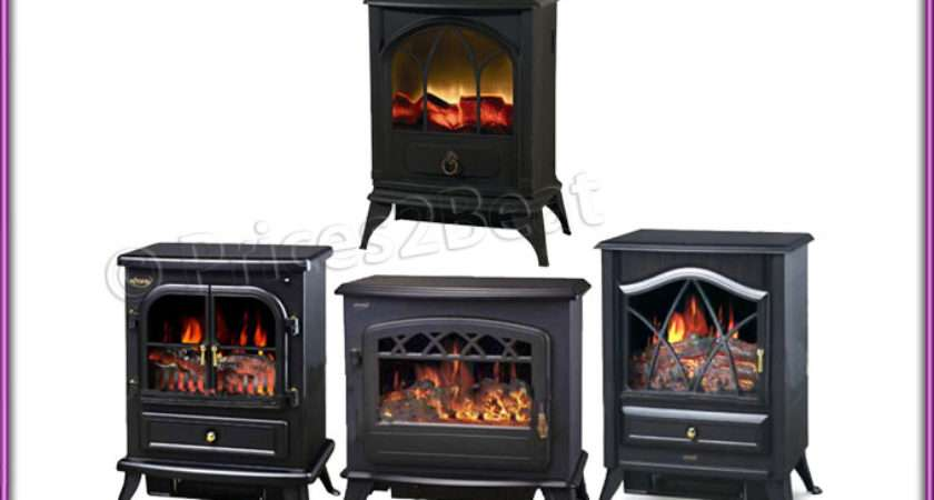 Log Burning Flame Effect Stove Heater Electric Fire Fireplace