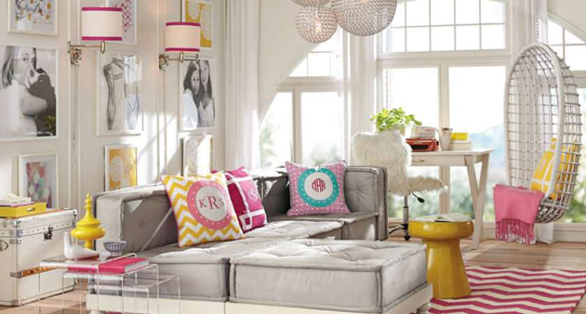 Lounge Room Decorating Ideas Bold Colors Pbteen