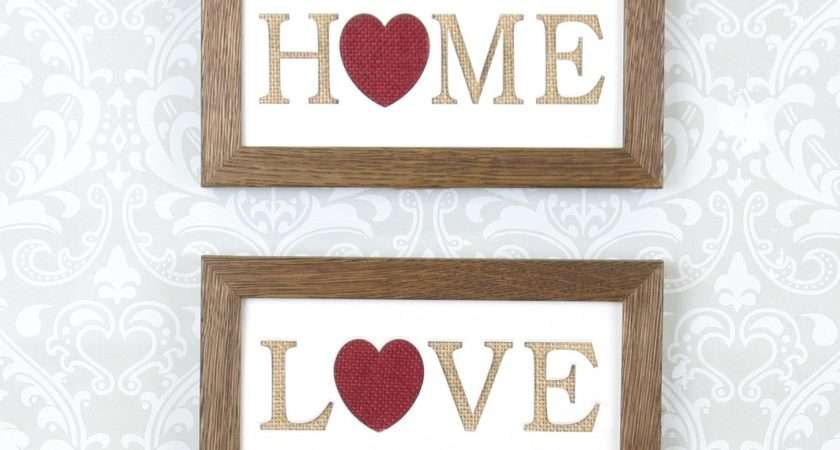 Love Home Signs Living Room Decor Perfect Wall