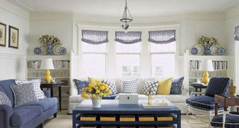 Love Navy White Yellow Living Room Future Baby Ideas Pintere