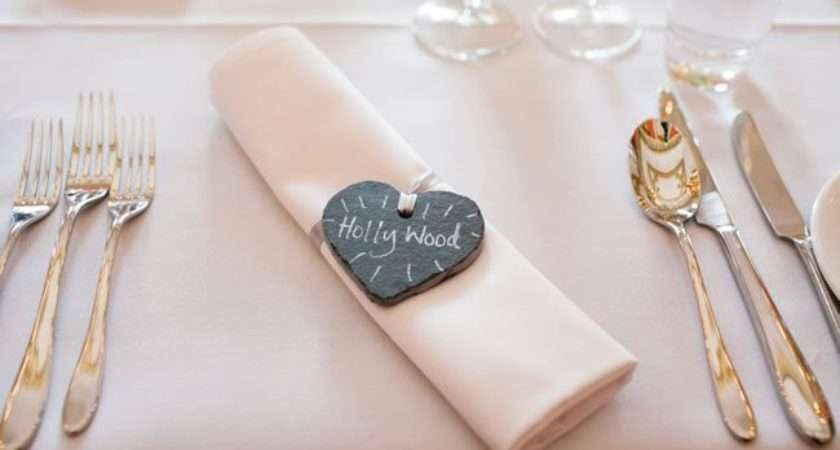 Love These Slate Heart Placenames Pretty Alternative Place Cards
