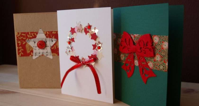 Loved Ones Greeting Them Christmas Homemade Holiday Cards