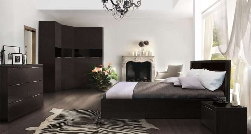 Lovely Decorating Small Homes Bedrooms Dark Wood Floors