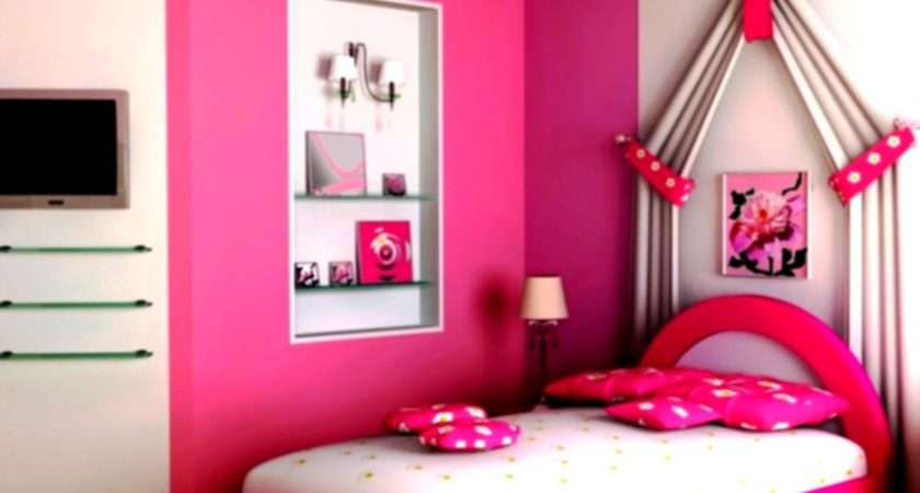 Lovely Decoration Ideas Bedrooms Girls Pink Themes Homelk