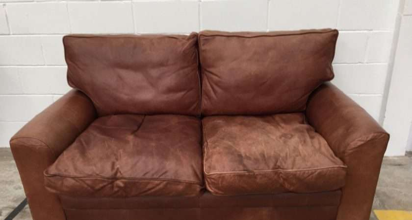 Lovely Tan Brown Leather John Lewis Sofa Aherns