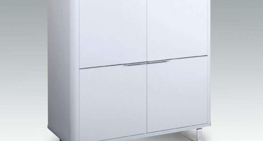 Lpd Flat Packed Accent White Gloss Storage Unit