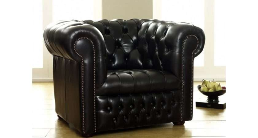 Ludlow Black Leather Chesterfield Sofa Company