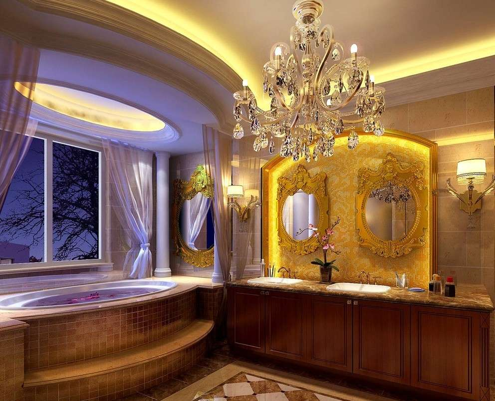 Luxury Bathroom Five Star Hotel European Style House