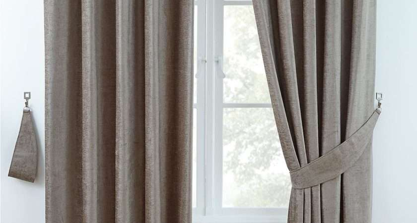Luxury Chenille Eyelet Curtains Very