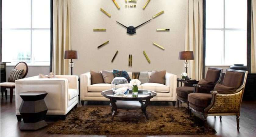 Luxury Wall Clock Living Room Diy Home Decoration Mirror Large Art