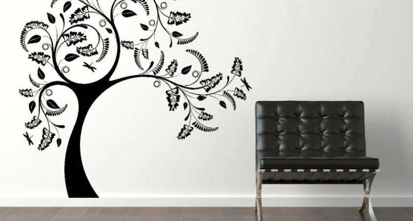Magnificent Large Tree Wall Decals Jpeg