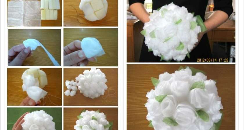 Make Baby Tissue Paper Flower Bouquet Step Diy Tutorial