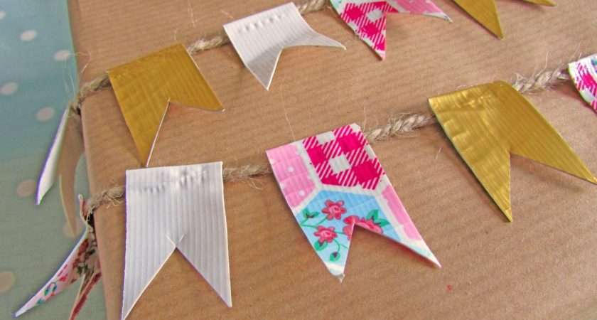 Make Gift Wrap Bunting Hobbycraft Blog
