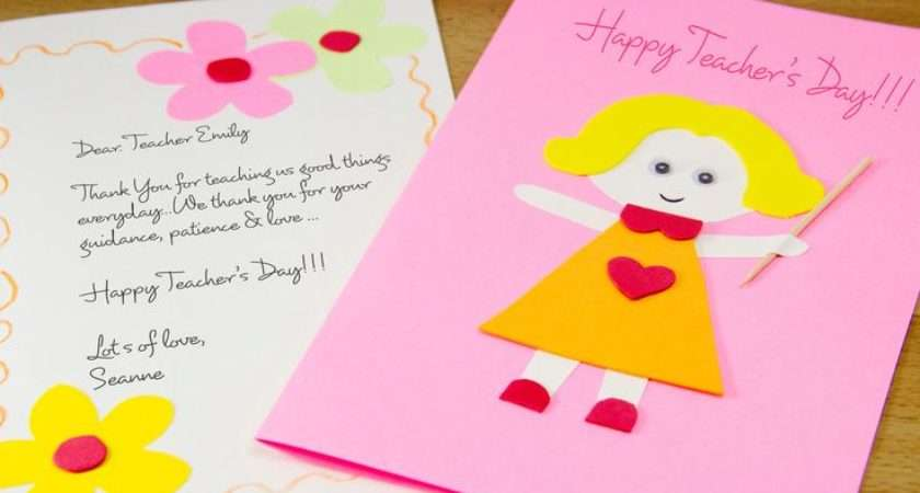 Make Homemade Teacher Day Card Teachers