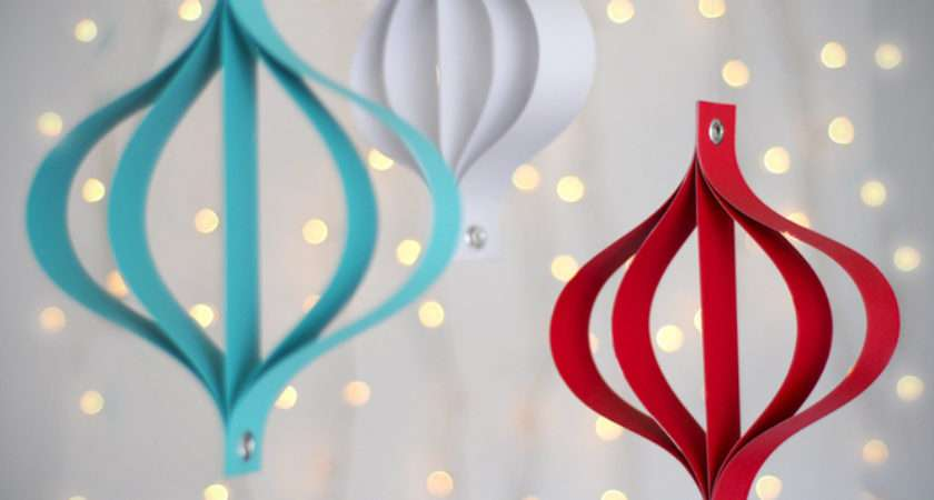 Make Modern Paper Ornaments Curbly Diy Design Decor