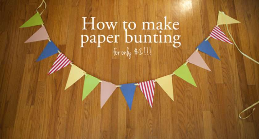 Make Paper Bunting Tutorial