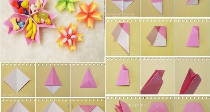 Make Paper Flower Dish Step Diy Tutorial Instructions