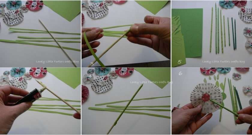 Make Paper Flower Step Easy Making Stems