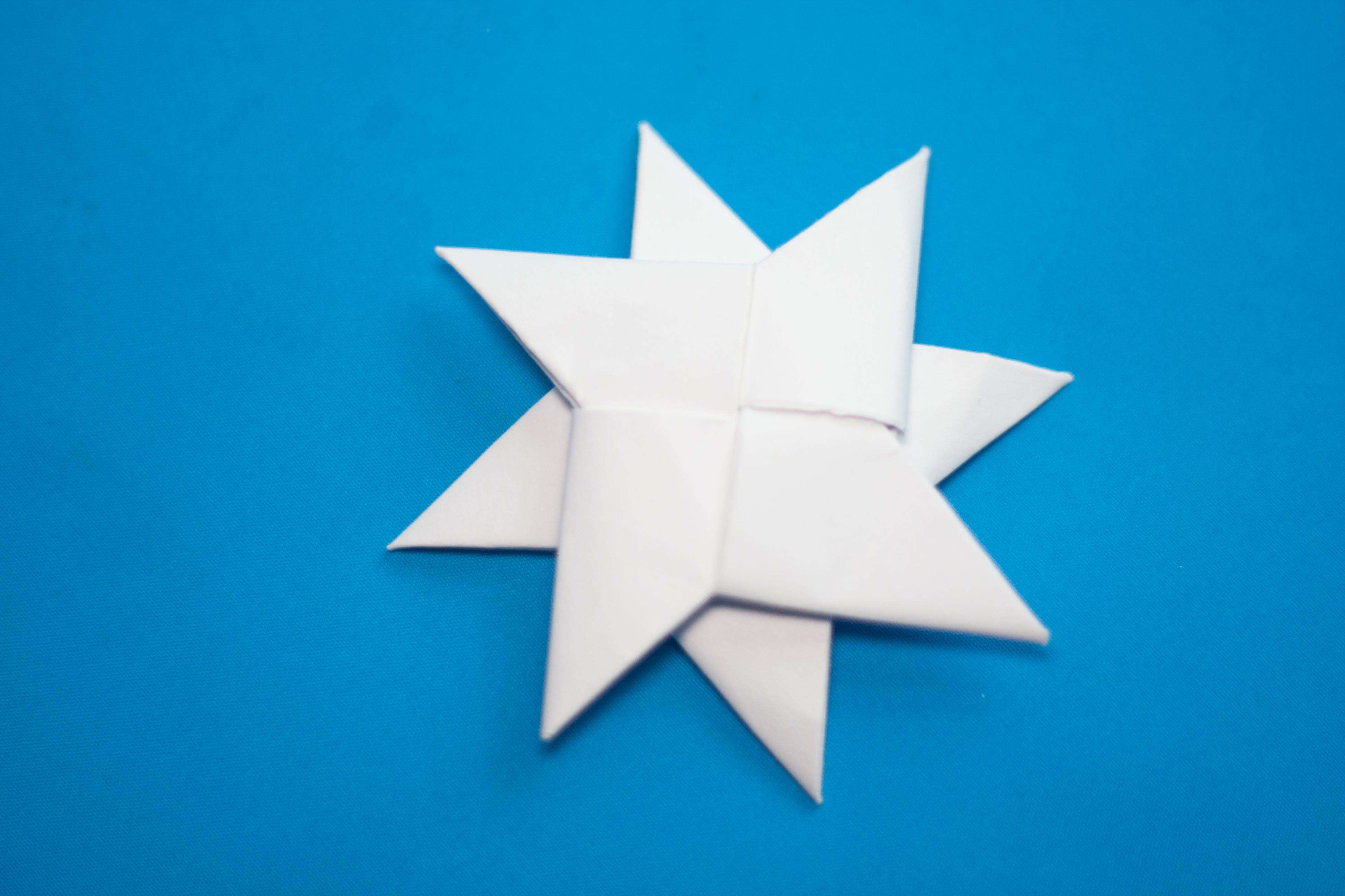 Make Paper Ninja Star Double Step