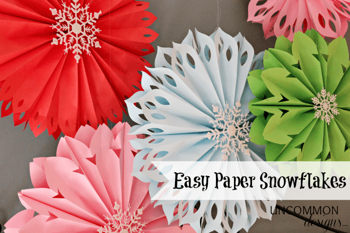 Make Paper Snowflakes Easiest Ever