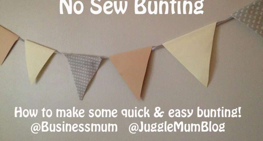 Make Quick Easy Bunting Jugglemum