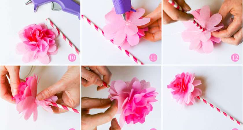 Make Tissue Paper Flower Step Galleryhip